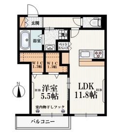 ひばりケ丘駅 徒歩17分2階Fの間取り画像