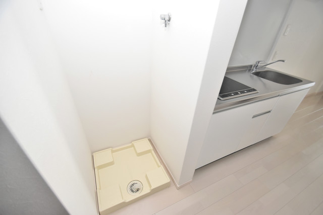 NEXT ONE 嬉しい室内洗濯機置場。これで洗濯機も長持ちしますね。