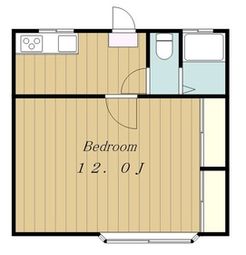 パークサイドハウスNO12階Fの間取り画像