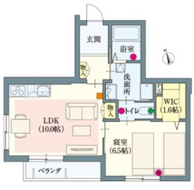 (シニア限定)ラルーチェ横浜2階Fの間取り画像
