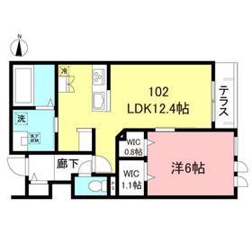 仮称)代田1丁目メゾン東棟1階Fの間取り画像