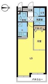 ヴァンテアンライフ高円寺壱番館3階Fの間取り画像