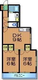 モンパレ1階Fの間取り画像