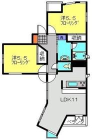 武蔵中原駅 徒歩3分1階Fの間取り画像