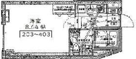 アーバンステージ千石Ⅱ4階Fの間取り画像