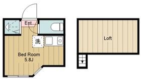 ユナイト中野島ジャンレノ1階Fの間取り画像
