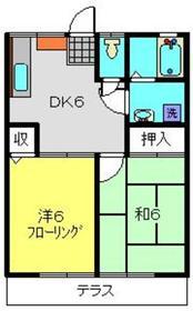 エステートYASUI A1階Fの間取り画像