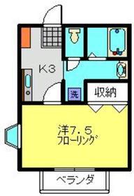 北山田駅 徒歩18分1階Fの間取り画像
