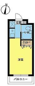 スカイコート高田馬場2階Fの間取り画像