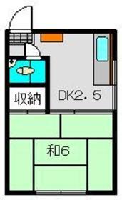 五輪荘1階Fの間取り画像
