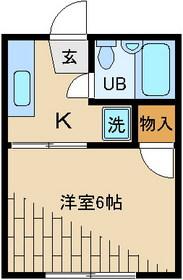 メゾン松島1階Fの間取り画像
