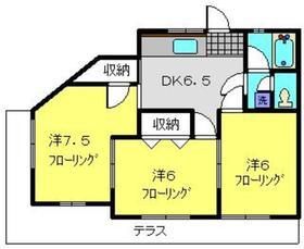 新川荘1階Fの間取り画像