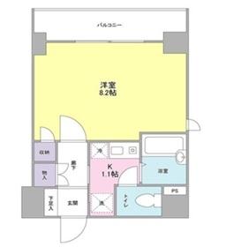 フォレシティ内神田8階Fの間取り画像