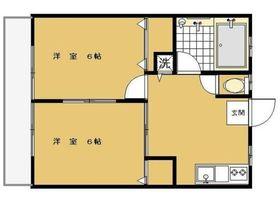 ハイツ小柳三春台3階Fの間取り画像