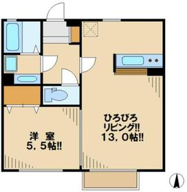 グラシアスナガヌマII1階Fの間取り画像