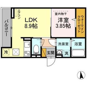 仮)D-room椿森1階Fの間取り画像