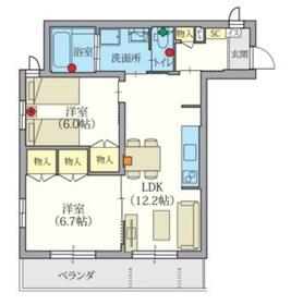 Gran Bliss 武蔵浦和2階Fの間取り画像