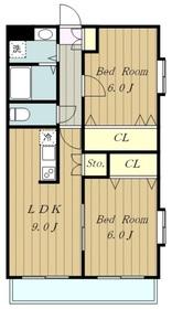 ノーブルマンション相模大野4階Fの間取り画像
