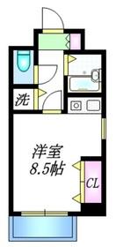 シュロス塚越8階Fの間取り画像