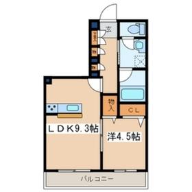 メゾン・ド・ベル2階Fの間取り画像