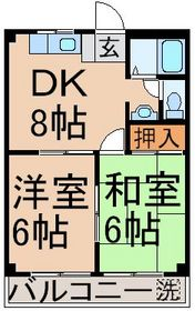 小作駅 徒歩16分2階Fの間取り画像