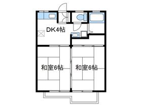 サンハイツA2階Fの間取り画像