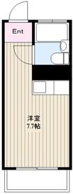読売ランド前駅 徒歩25分2階Fの間取り画像