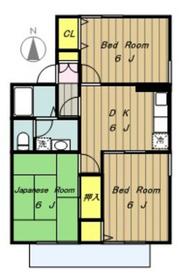 ドリームライフB2階Fの間取り画像
