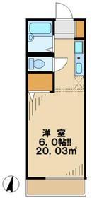キャッスル2階Fの間取り画像