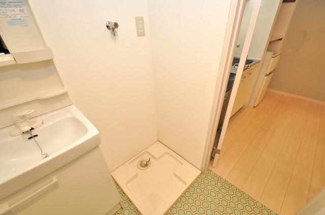 アップウエスト神路 嬉しい室内洗濯機置場は脱衣場も兼ねています。