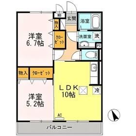 宿河原駅 徒歩9分1階Fの間取り画像
