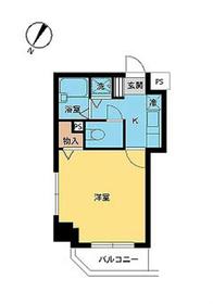 スカイコート神楽坂壱番館9階Fの間取り画像