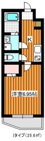 成増駅 徒歩9分4階Fの間取り画像