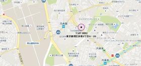 乃木坂駅 徒歩1分案内図