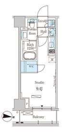 パークアクシス木場キャナル ウエスト4階Fの間取り画像