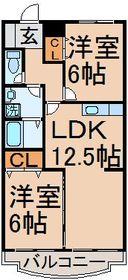 ルミエールセゾン2階Fの間取り画像