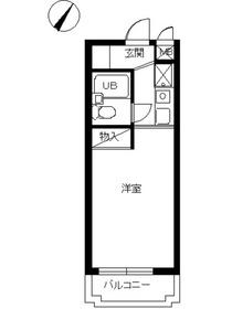 スカイコート阿佐ヶ谷第25階Fの間取り画像