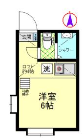 Tiara横浜鶴見Ⅱ2階Fの間取り画像