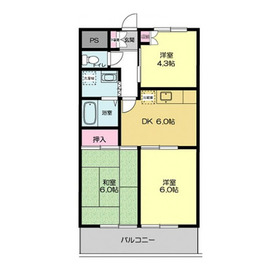 ウィスタリアマンション2階Fの間取り画像