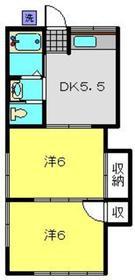 江口アパート2階Fの間取り画像