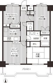 関寅ビル第29階Fの間取り画像