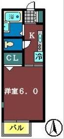 ロイヤルコート壱番館(前原西)1階Fの間取り画像