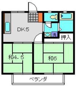 足立ハイツC1階Fの間取り画像