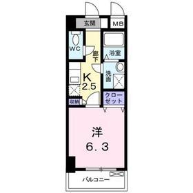 ケンオークニ8階Fの間取り画像