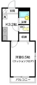 メゾン・ドルチェ1階Fの間取り画像