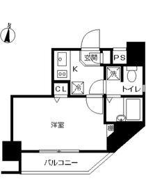 スカイコートお茶の水女子大前第28階Fの間取り画像