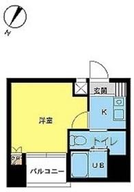 スカイコート日本橋第38階Fの間取り画像