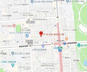 亀戸駅 徒歩25分案内図