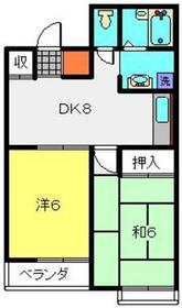 ブルーウェイブ1階Fの間取り画像