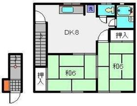 菊名駅 徒歩9分2階Fの間取り画像